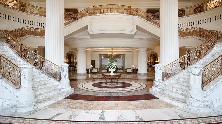 the st regis dubai lobby grand staircase