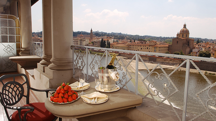 The St Regis Florence royal suite terrace