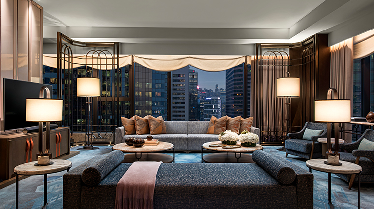 the st regis hong kong presidential suite living room night