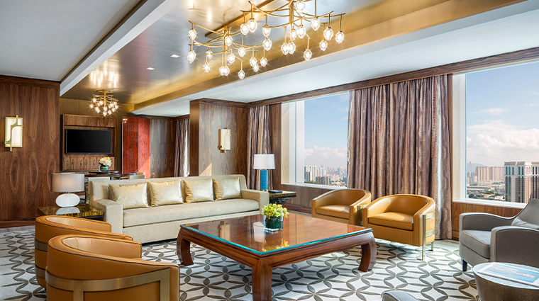 the st regis macao cotai central presidential suite living room