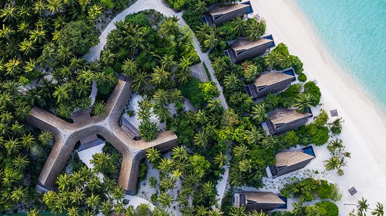 the st regis maldives vommuli resort aerial