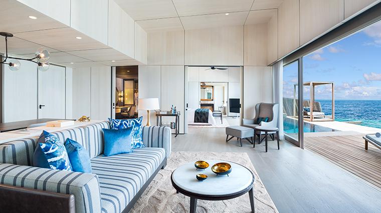 the st regis maldives vommuli resort st regis suite living room