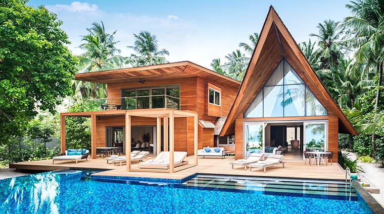 the st regis maldives vommuli resort two bedroom beach suite