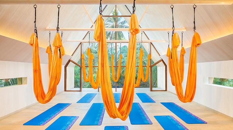 the st regis maldives vommuli resort yoga studio