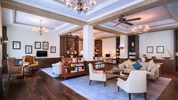 the st regis mauritius library
