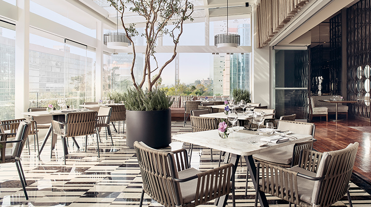 the st regis mexico city Diana restaurant terrace