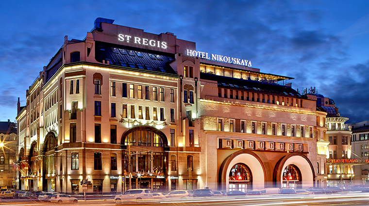the st regis moscow exterior night