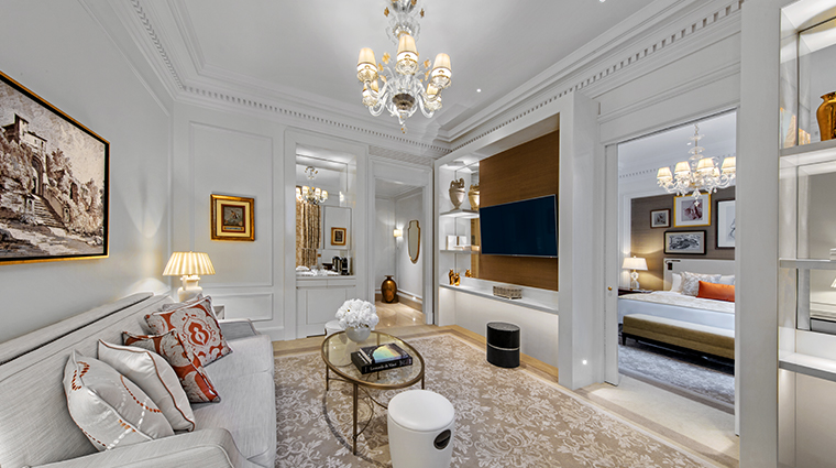 the st regis rome suite living room