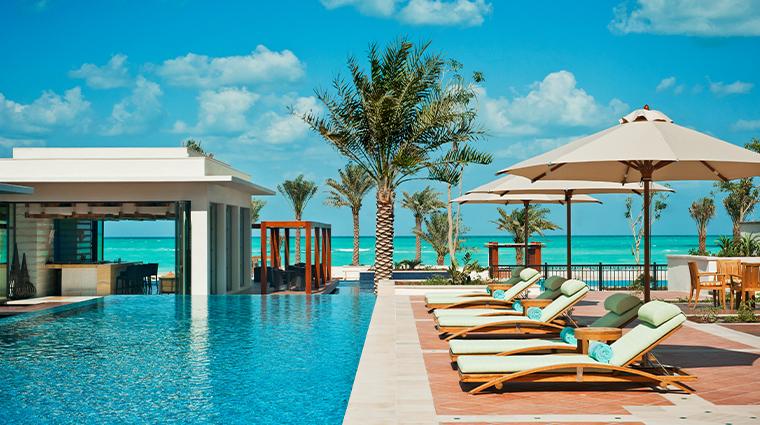 the st regis saadiyat island resort abu dhabi lap pool loungers
