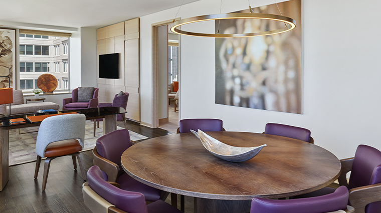 the st regis san francisco metropolitan suite dining room