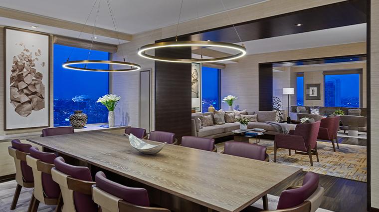 the st regis san francisco presidential suite dining room
