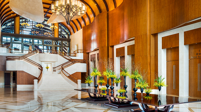 the st regis sanya yalong bay resort grand staircase