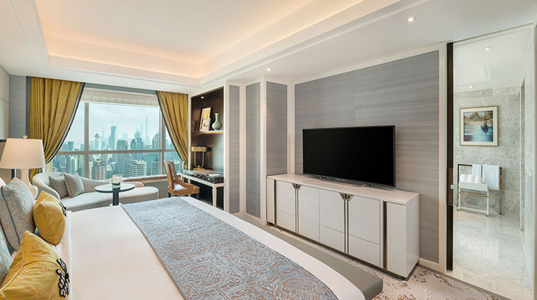 the st regis shanghai jingan superior deluxe bedroom