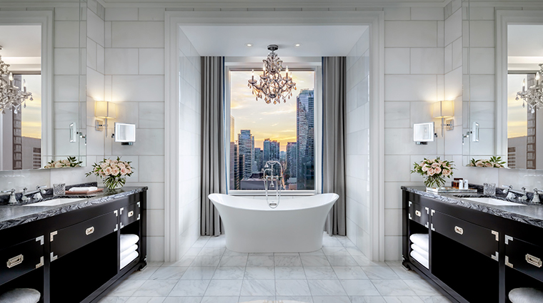 the st regis toronto suite master bathroom