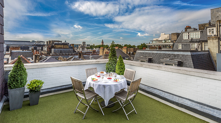 the stafford london Mews penthouse suite terrace