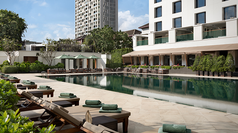 the sukhothai bangkok pool angle