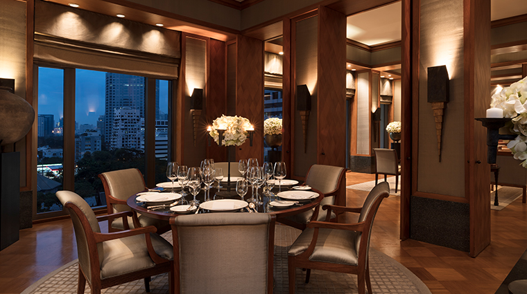 the sukhothai bangkok suite dining room
