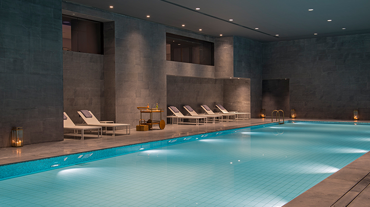 the sukhothai shanghai indoor heated pool
