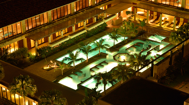 the terrace club at busena thalasso pool night