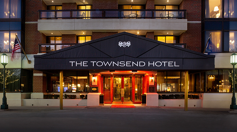 the townsend hotel main entrance