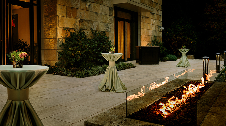 the umstead hotel and spa outdoor firepit