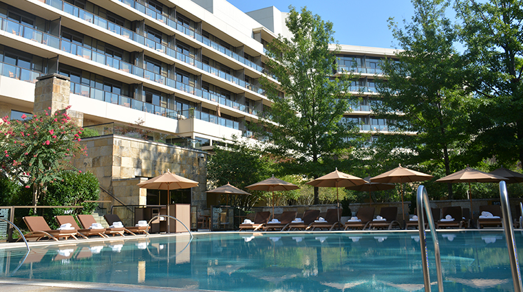 the umstead hotel and spa pool side views