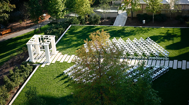 the umstead hotel and spa wedding lawn