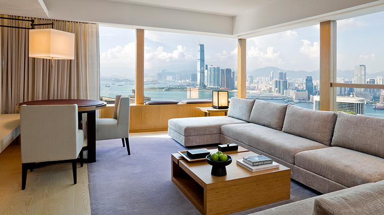 The Upper House penthouse living room