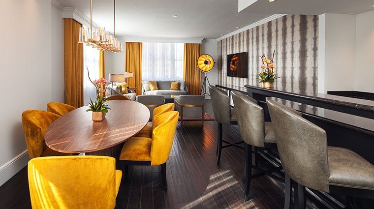 the us grant a luxury collection hotel penthouse suite living room