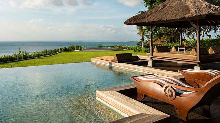 the villas at ayana resort bali pool and gazebo