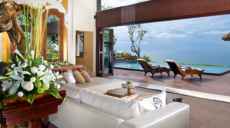 the villas at ayana resort bali villa living room