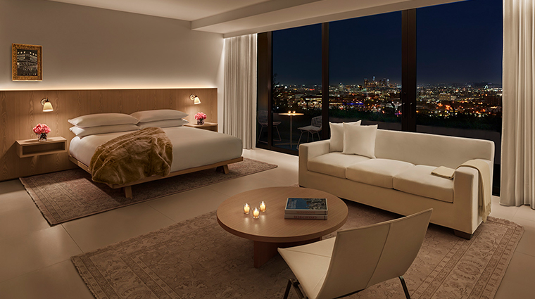 the west hollywood edition bedroom terrace