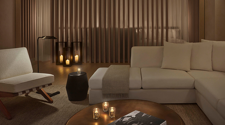 the west hollywood edition spa relaxation room