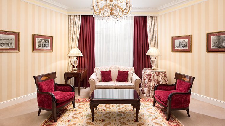 the westin palace madrid classic executive suite living room