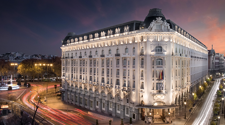 the westin palace madrid exterior night