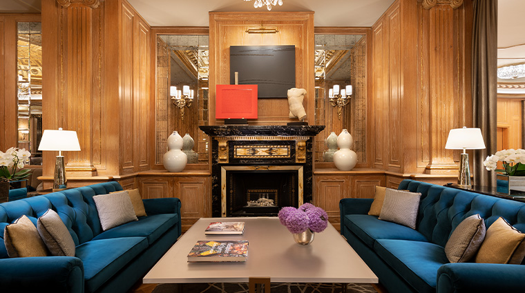 the westin palace milan lounge bar fireplace