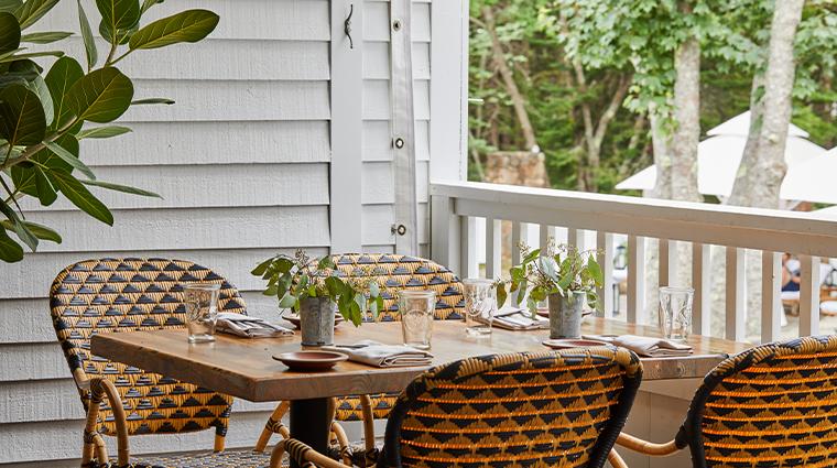 the white barn inn restaurant outdoor seating