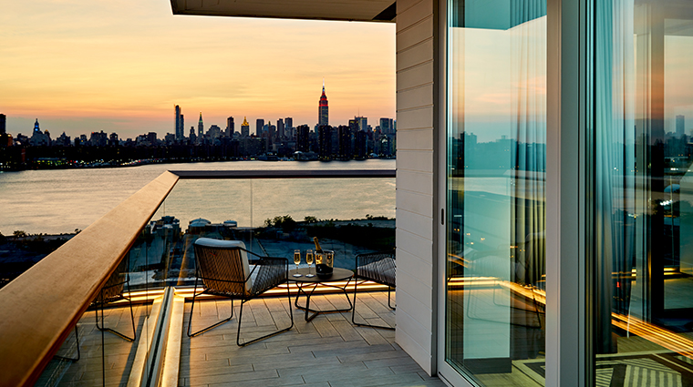 the william vale gotham corner suite sunset