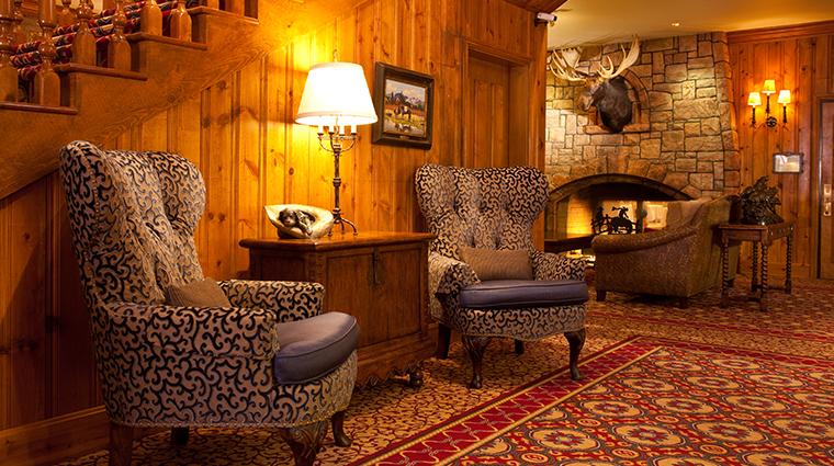 the wort hotel lobby fireplace