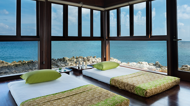 thermes marins bali treatment room view