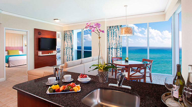 trump international beach resort miamione bedroom suite kitchen