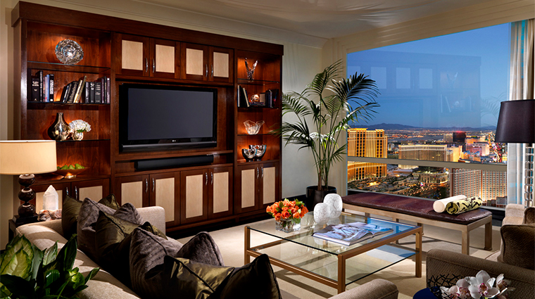 trump international hotel las vegas penthouse living space