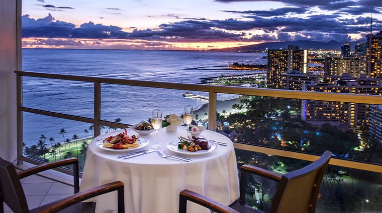 trump international hotel waikiki in room dining