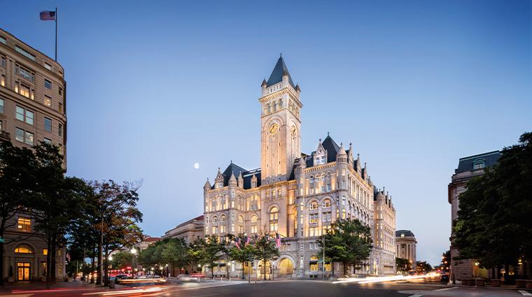trump international hotel washington dc exterior dusk