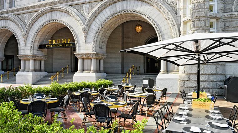 trump international hotel washington dc outdoor dining