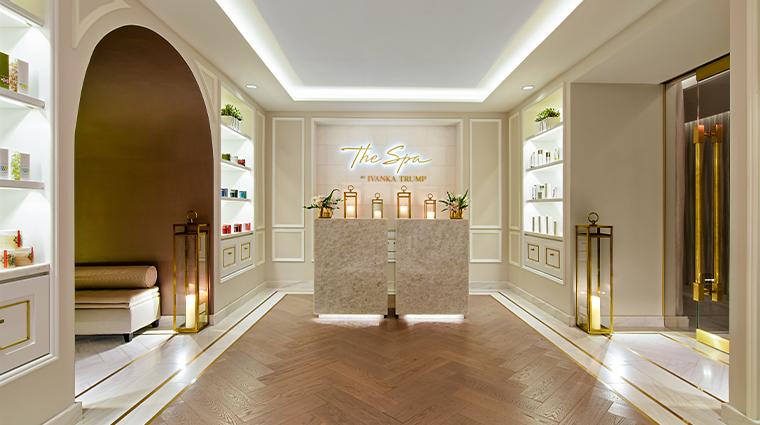 trump international hotel washington dc spa entrance