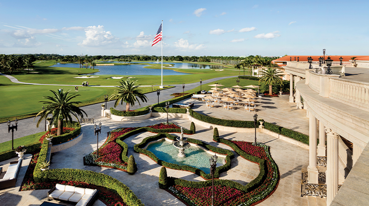 trump national doral miami view from terrace