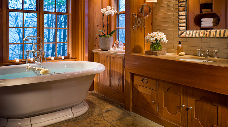 twin farms chalet bath