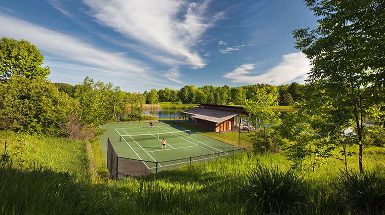 twin farms tennis courts