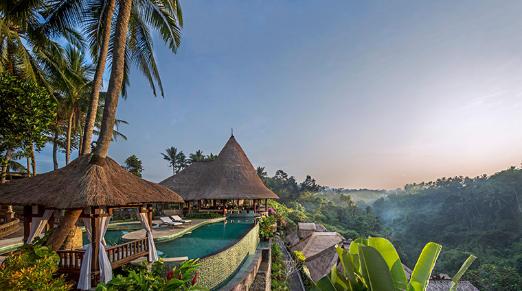 viceroy bali Main Pool Sunrise